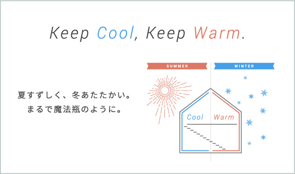 Keep Cool,Keep Warm.夏すずしく、冬あったかい。まるで魔法瓶のように。