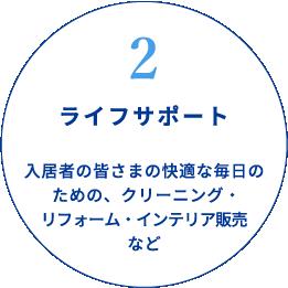 2ライフサポート 入居者の皆さまの快適な毎日のための、クリーニング・リフォーム・インテリア販売など